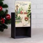 """Коробка подарочная """"Зимний вечер"""", серая, 20×30×12 см - Фото 2"""