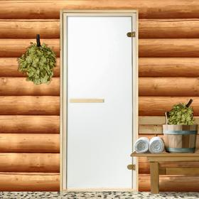 Дверь стеклянная «Сатин», размер коробки 190 × 70 см, 2 петли, 6 мм Ош