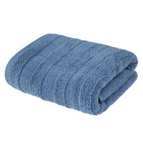 Полотенце «Авеню», размер 50 × 90 см, махра, цвет серо - голубой