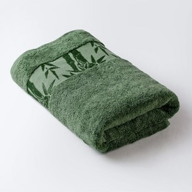 Полотенце «Бамбук», размер 41 × 70 см, махра, цвет зелёный