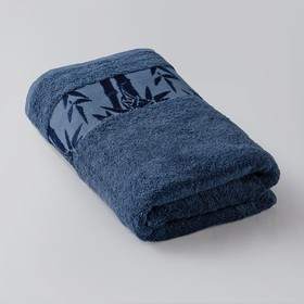Полотенце «Бамбук», размер 41 × 70 см, махра, цвет синий
