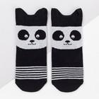Носки детские «Панда», цвет чёрный, размер 20-22