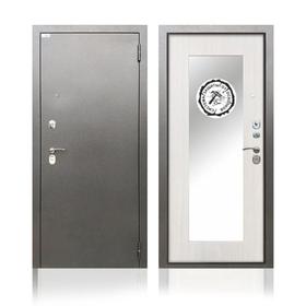 Сейф-дверь «Берлога Тринити Милли», 970 × 2060 левая, цвет ясень белый