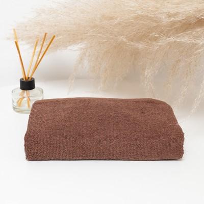 Полотенце махровое 30х30 см, коричневый, хлопок 100%, 360 г/м2 - Фото 1