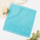 Полотенце махровое, 30х30 см, цвет голубой МИКС - Фото 3