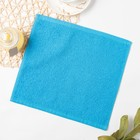 Полотенце махровое, 30х30 см, цвет голубой МИКС - Фото 4