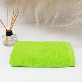 Полотенце махровое 30х30 см, салатовый-МИКС, хлопок 100% Ош