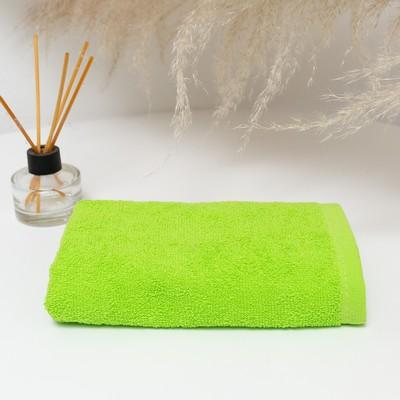 Полотенце махровое 30х50 см, салатовый, хлопок 100%, 360 г/м2