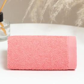 Полотенце махровое 30х50 см, коралл, хлопок 100%, 360 г/м2