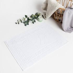 Полотенце махровое для ног, размер 50х70 см, белый, хлопок 100%