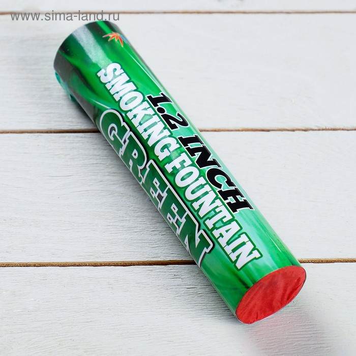 Цветной дым зелёный, заряд 1,2 дюйма, ПРОФИ, высокая интенсивность, 60 сек, 17 см