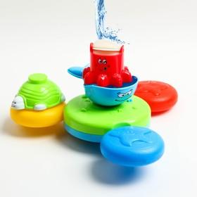 Набор игрушек для купания «Весёлый водный набор», на присоке