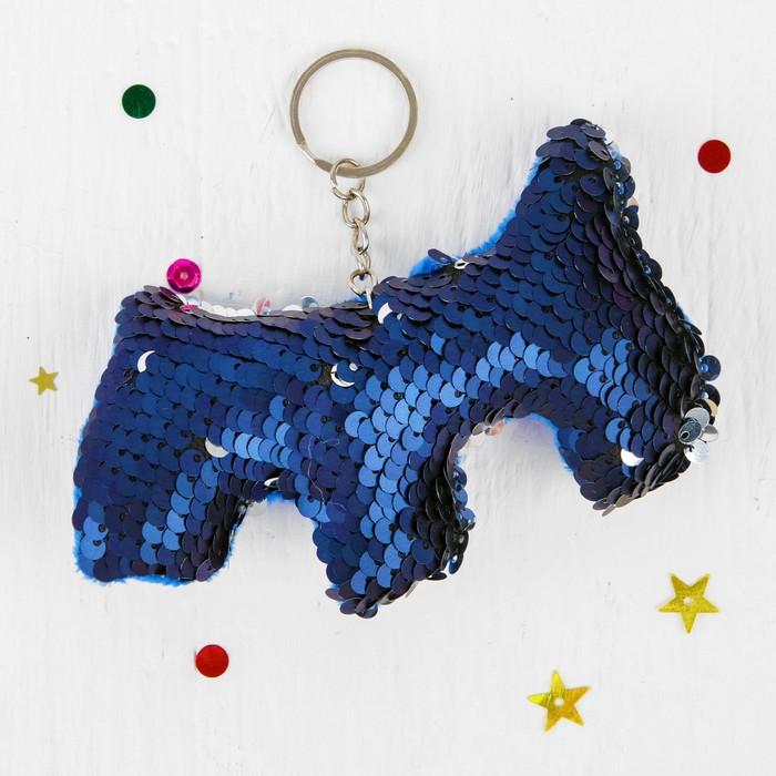 Мягкий брелок-хамелеон Собака, цвета МИКС