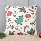 Подушка декоративная с фотопечатью «Рождество» 40х40 см