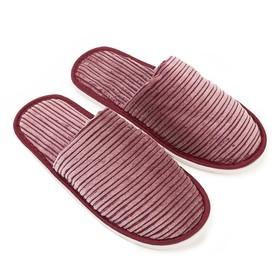 Тапочки женские цвет бордовый, размер 40 Ош