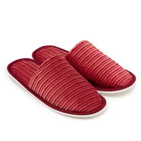 Тапочки женские цвет красный, размер 40 Ош