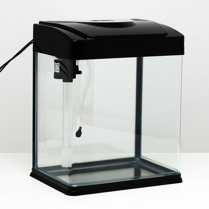 Аквариум SeaStar HX-320ZF 22 л, черный (в комплекте LED-лампа, топ-фильтр)