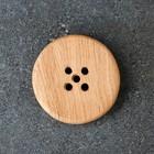 Мыльница деревянная круглая, d10 см - Фото 4