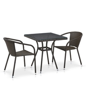 Комплект плетеной мебели T282BNT/Y137C-W53 Brown 2Pcs Ош
