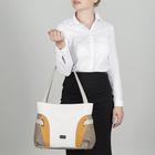 Сумка женская, отдел на молнии, наружный карман, цвет серый/жёлтый