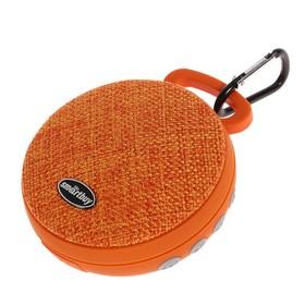 Портативная колонка SmartBuy PIXEL, Bluetooth, MP3-плеер, FM-радио, 3 Вт, оранжевая