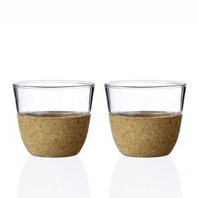 Чайный стакан Cortica 200 мл, 2 шт, прозрачный