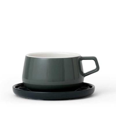 Чайная чашка с блюдцем Ella 300 мл, мятный - Фото 1