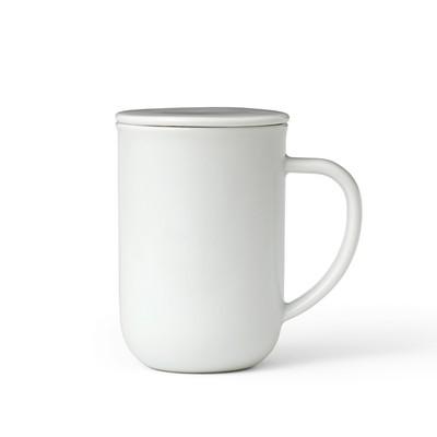 Чайная кружка с ситечком Minima 500 мл, белый - Фото 1