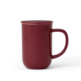 Чайная кружка с ситечком Minima 500 мл, бордовый