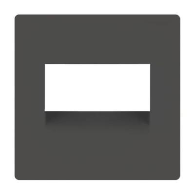 Накладка для двойной розетки Еthernet WL07-RJ45+RJ45-CP, цвет серо-коричневый