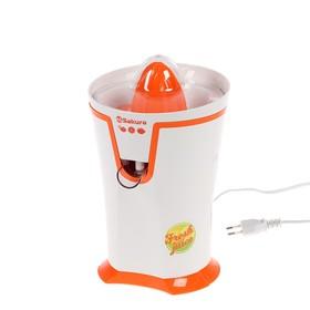 Соковыжималка Sakura SA-6510A, для цитрусовых, 40 Вт, 0.2 л, бело-оранжевая Ош