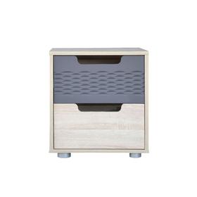 Тумба прикроватная «Мишель», 454 × 370 × 510 мм, 2 ящика, цвет дуб сонома / графит (4471137) - Купить по цене от 4 249.00 руб. | Интернет магазин SIMA-LAND.RU