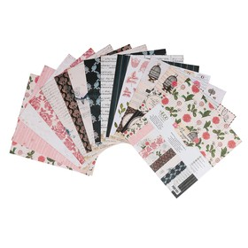 "Набор бумаги для скрапбукинга ""Мемуары"" 13 листов, 30,5х30,5 см, 250гр/м2"