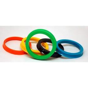 Пластиковое центровочное кольцо ЕТК 66,6-57,1, цвет МИКС Ош
