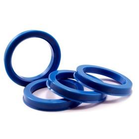 Пластиковое центровочное кольцо К&К 67,1-56,6 синие Ош