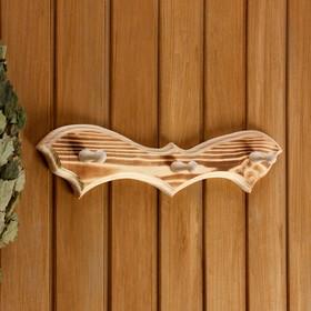 Вешалка 'Летучая мышь', обожжённая, 3 крючка, 30,5×10×5 см Ош