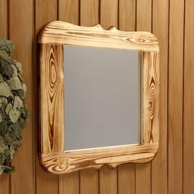 Зеркало резное, обожжённое, 50×50 см Ош
