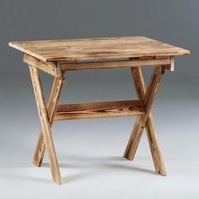 Стол малый, складной, обожжённый, 80×80×70 см Ош