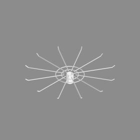 Дисплей 12-и штыревой для бижутерии, цвет белый Ош