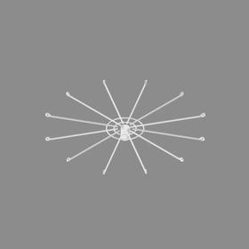 Дисплей 12-и штыревой для использования с замком, цвет белый Ош
