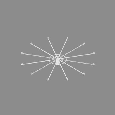 Дисплей 12-и штыревой с цепочкой и замком, цвет белый
