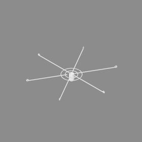 Дисплей 6-и штыревой с цепочкой и замком, цвет белый Ош