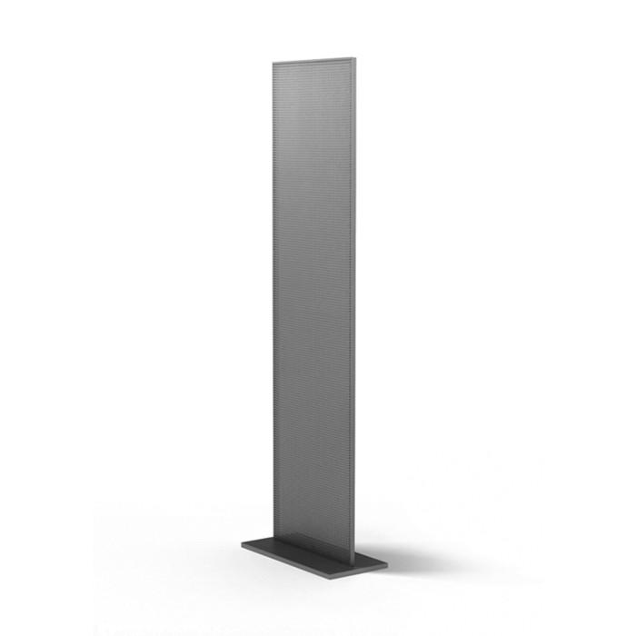 Буклетница Стелла 450*350*1600, шаг 12мм, цвет серебристый металлик