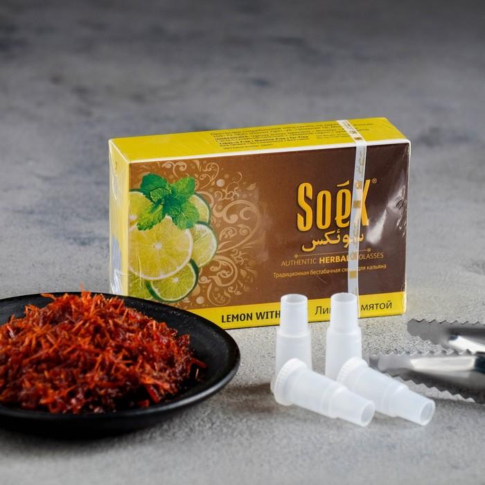 """Безникотиновая смесь """"Soex"""", Лимон с мятой, 50 г"""