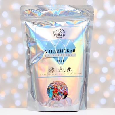 Английская соль Бизорюк «Детоксикация»  с эфирным маслом кофе и каменным маслом, 1 кг.