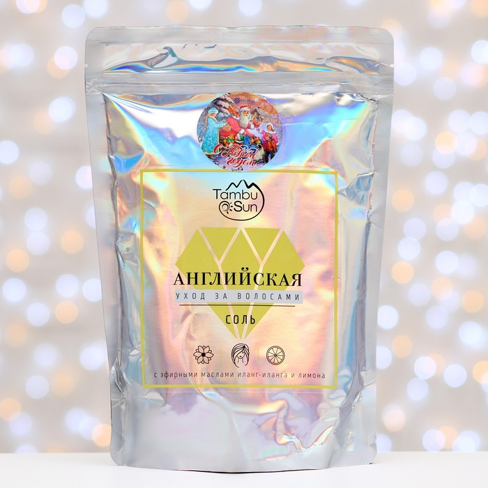 Английская соль Бизорюк «Уход за волосами» с эфирными маслами иланг-иланга и лимона, 1 кг.  445901