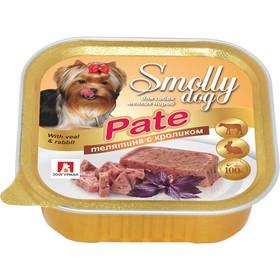 """Влажный корм """"Зоогурман"""" Смолли Дог для собак мелких пород, патэ телятина/кролик, ламистер, 100 г"""