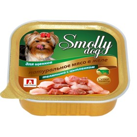 """Влажный корм """"Зоогурман"""" Смолли Дог для щенков мелких пород, телятина/цыплёнок, ламистер, 100 г"""