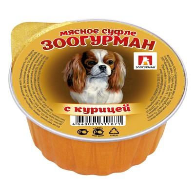 "Влажный корм ""Зоогурман"" для собак, суфле с курицей, ламистер, 100 г - Фото 1"