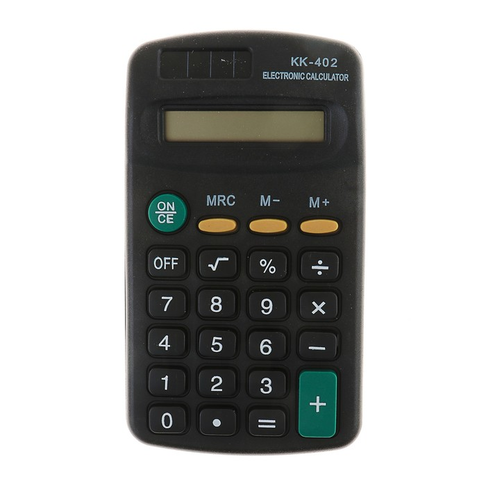Калькулятор карманный, 8-разрядный, KK-402, работает от батарейки